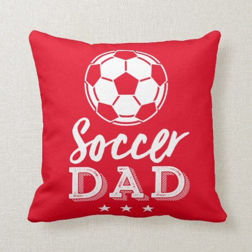 Football Dad Proud Father Of Soccer Player Kid Throw