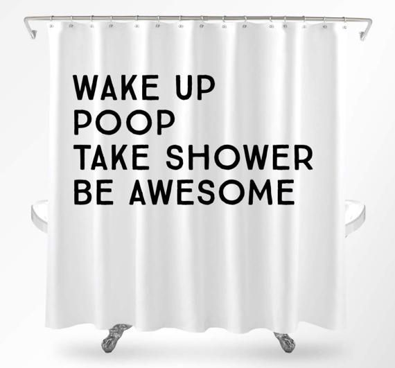 Funny Shower Curtains Cool Quote Curtain College Dorm Uniq