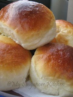 Custard Filled Buns Basic Recipe For Sweet Buns My Singapore Kitchen Sweet Buns Filling Recipes Cream Bun