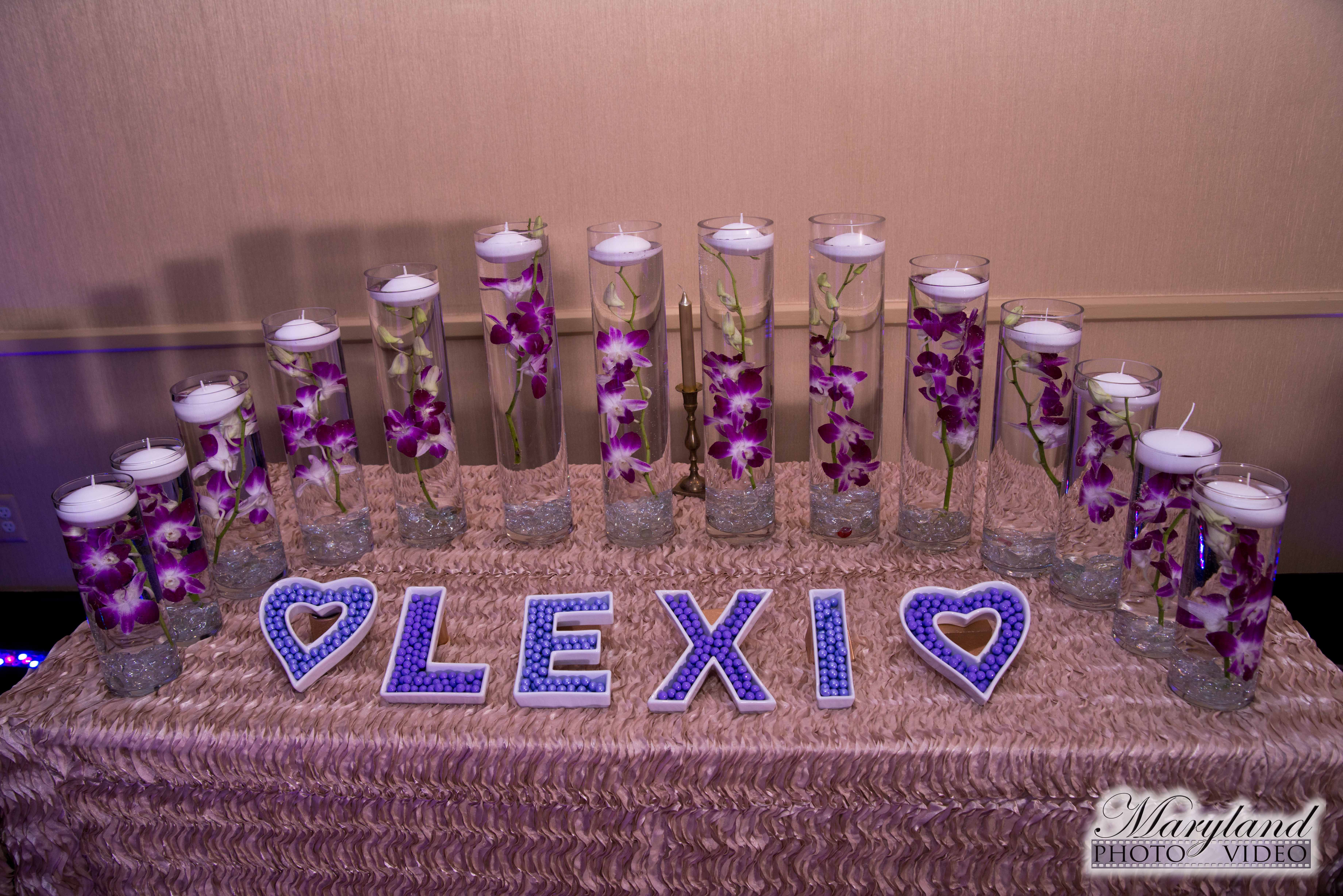 Lexis dog bat mitzvah party at westin tysons corner bat mitzvah purple candle lighting at dog themed bat mitzvah party at westin tysons corner pop color events adding a pop of color to bar bat mitzvahs in dc aloadofball Image collections