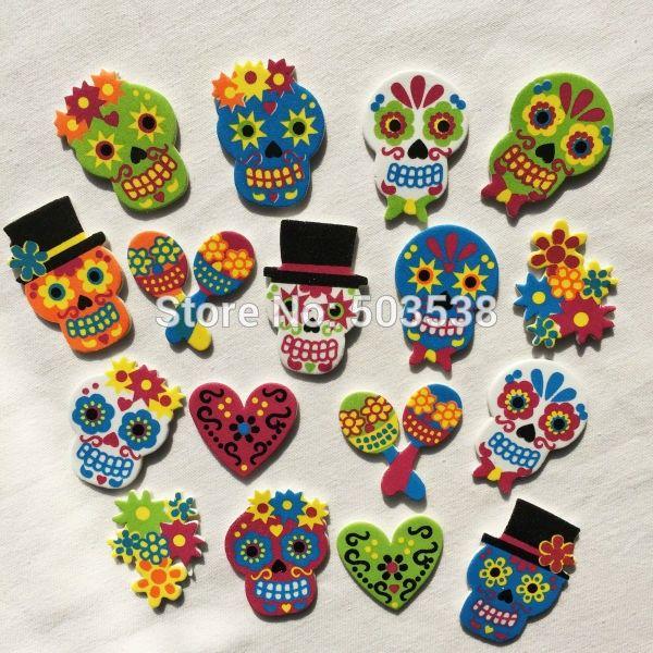 60PCS1bag LOTCheap Colorful Skeleton Foam StickersKids Toy