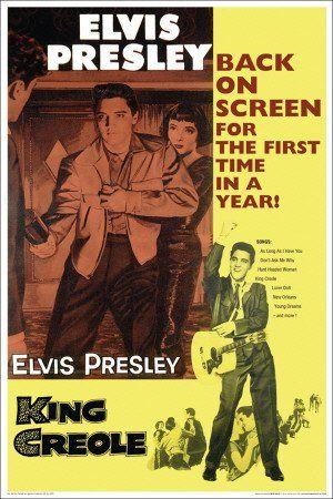 Amazon.com: (24x36) King Creole Movie (Elvis Presley) Music Poster ...