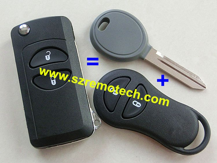 New Key Shell For Jeep Grand Cherokee For Chrysler Pt Cruiser Voyager Conversion Flip Remote Key Fo Chrysler Pt Cruiser Jeep Grand Cherokee Chrysler Dodge Jeep
