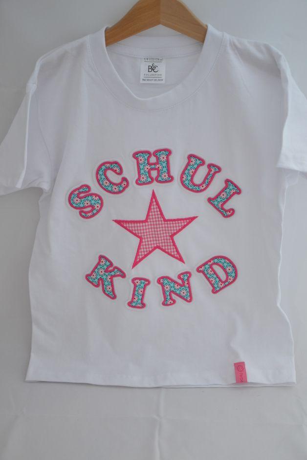 Schulkind Shirt Dawanda Handarbeit neu benäht Einschulung Schultüte Regenbogen