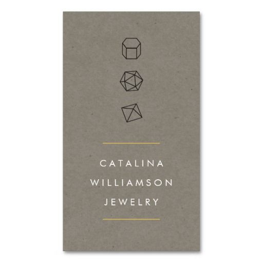 Modern Gemstone Trio Logo IV Jewelry Designer Business Card