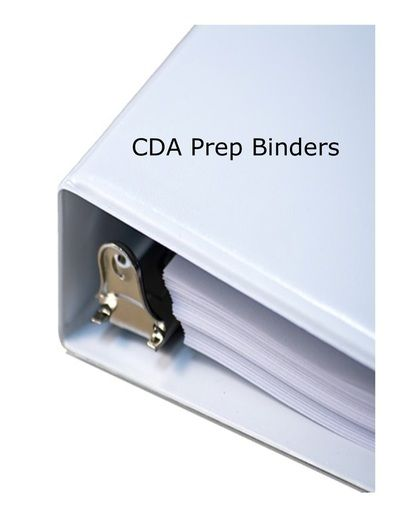 Pre assembled cda binders for the cda professional for Cda portfolio template