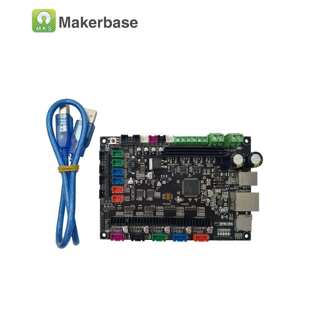Ce Rohs 32bit Arm Platform Smooth Control Board Mks Sbase V1 3 Open Source Mcu Lpc1768 Support Ethernet Preinstalled Heatsink 3d Printer Parts Firmware Printer