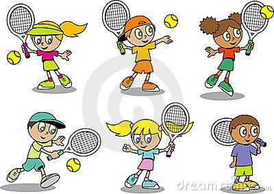Tennis Clipart Google Search Kids Tennis Kids Stock Cute Cartoon
