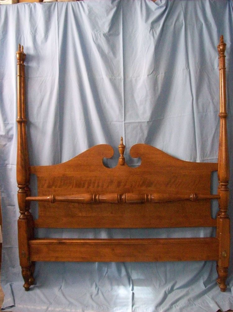 Swell Ethan Allen Heirloom 4 Poster Bed In Solid Maple With Download Free Architecture Designs Intelgarnamadebymaigaardcom