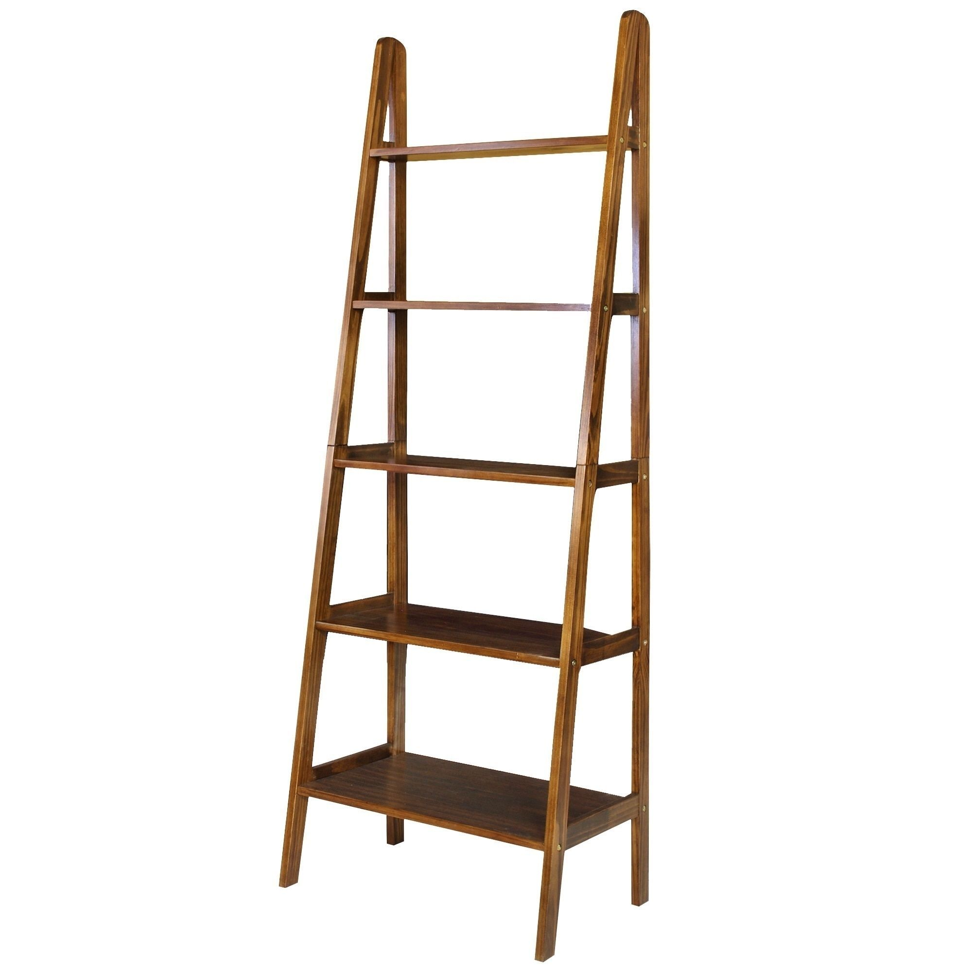 shelf and by riverside leaning products with espresso shelves open bookcase wolf bookcases ladder furniture