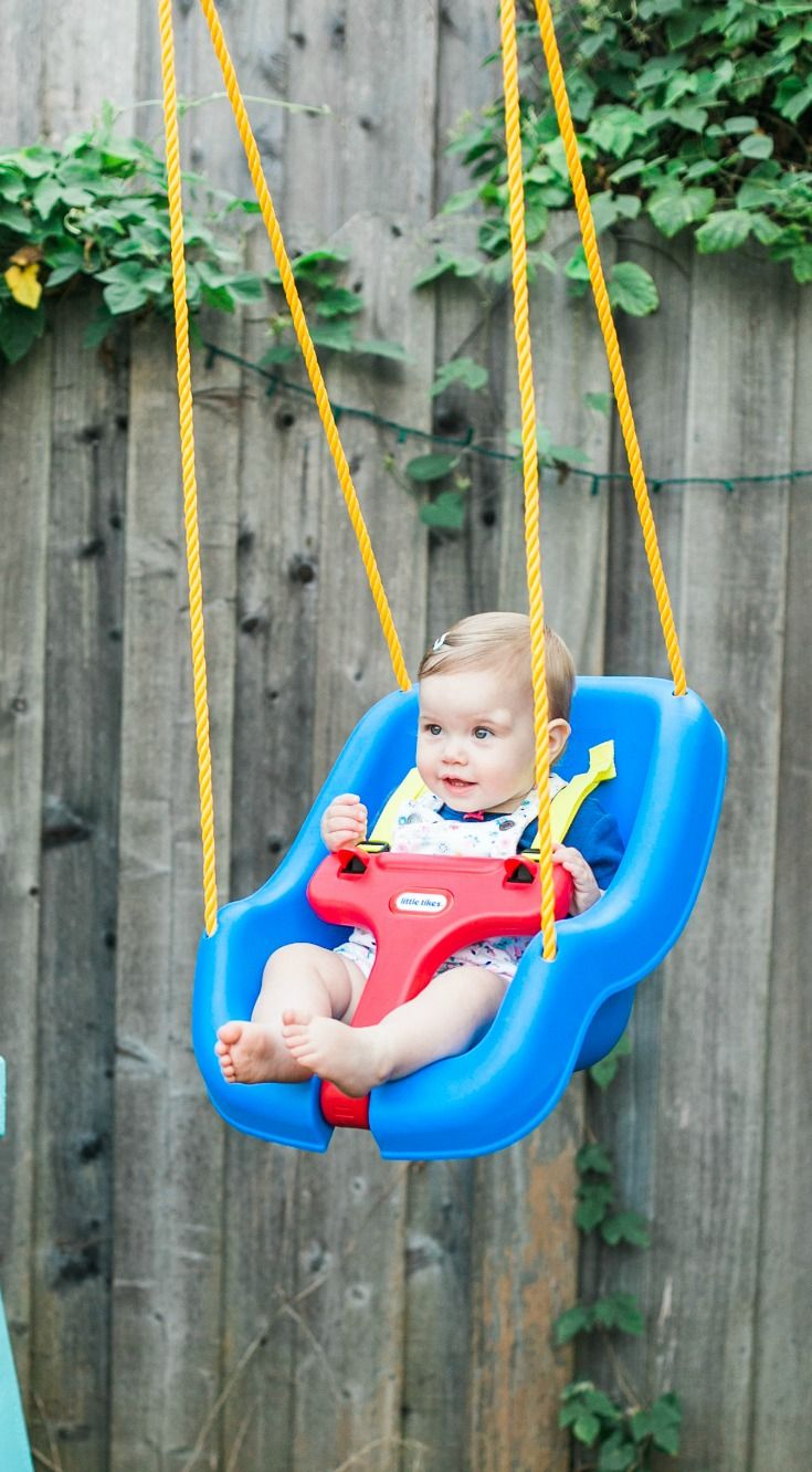 The Little Tikes 2 In 1 Snug N Secure Swing Will Have Your