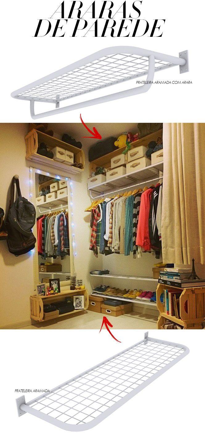 Onde comprar araras em Curitiba? Decor, Bedroom storage