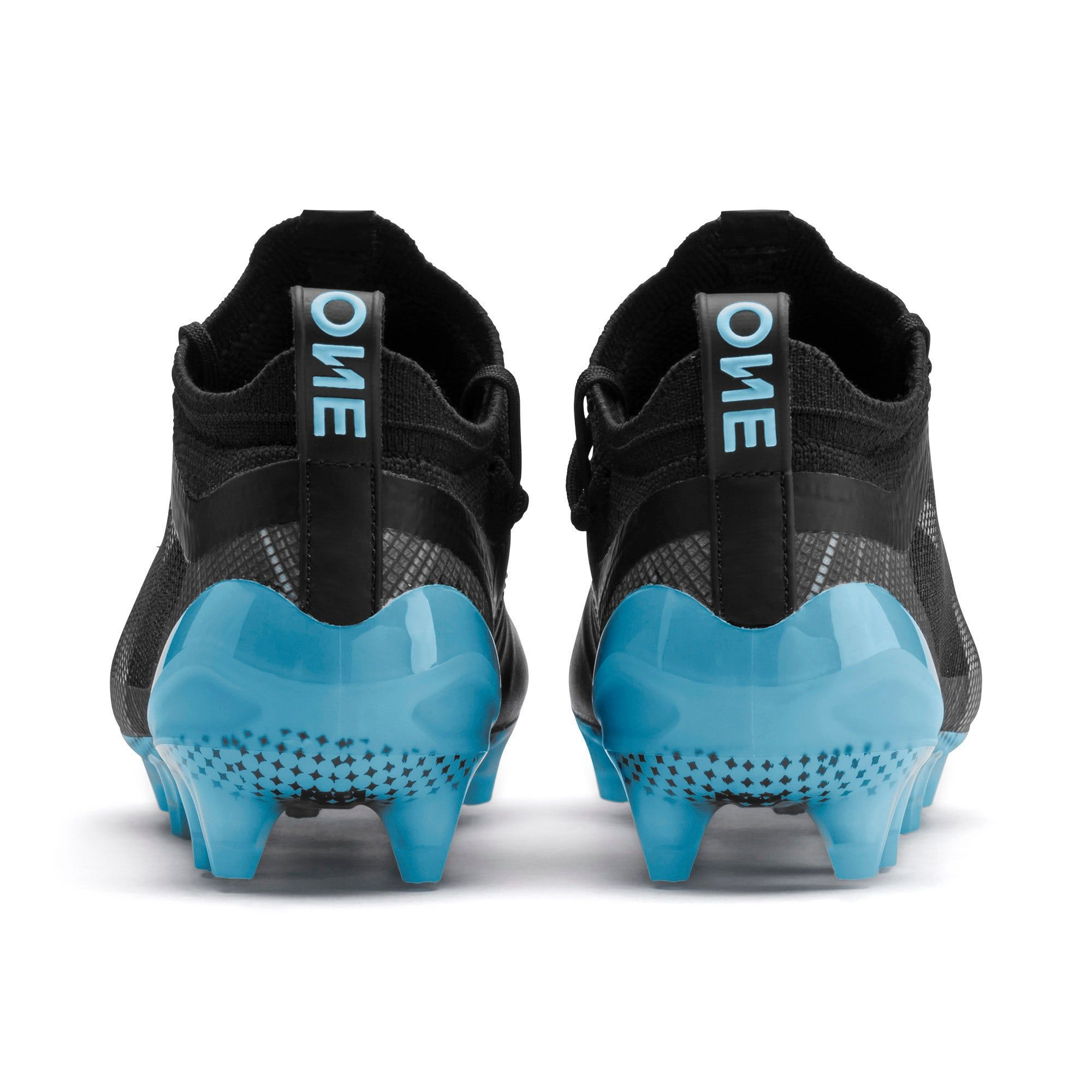 PUMA One 5.1 City Youth Football Boots in Black/Sky Blue ...