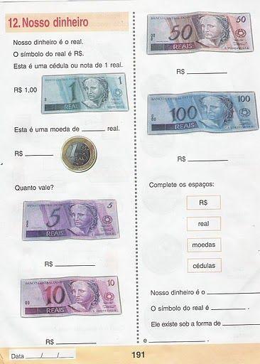 Pin De Suciu Maria Em Educație Atividades Sistema Monetario