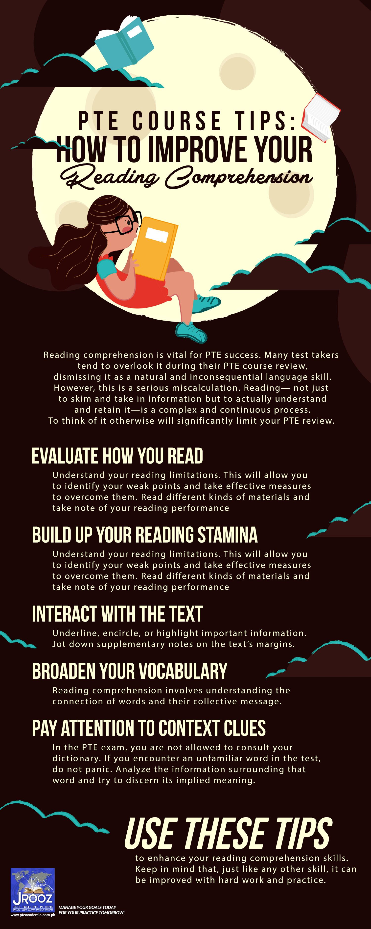 Pte Course Tips How To Improve Your Reading Comprehension Reading Comprehension Is Vital For Pte Success M Reading Comprehension Comprehension Reading Tips How to improve your reading