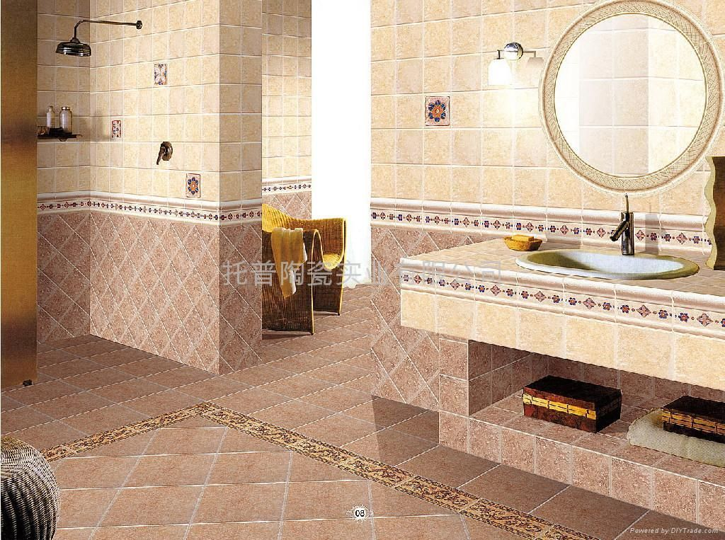 Tiling Bathroom Walls Sharp Natural Bathroom Interior Wall Tile Listed In Bathroom