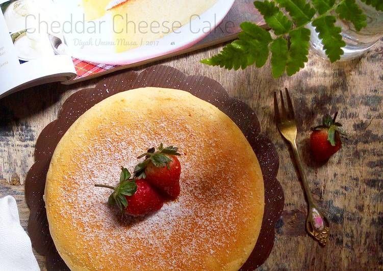 Resep Cheddar Cheese Cake Oleh Diyah Kuntari Resep Kue Keju Keju Cheddar Makanan