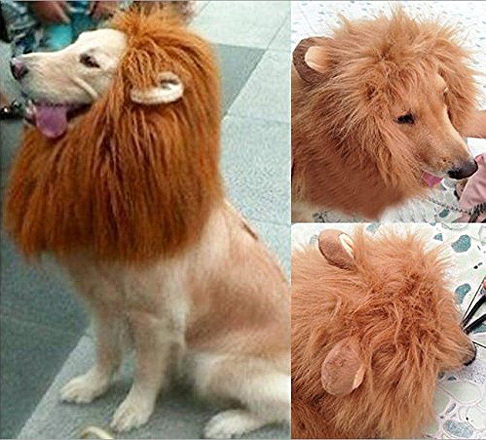amazoncom looching 1pcs brown lion mane costume big dog lion mane wig large