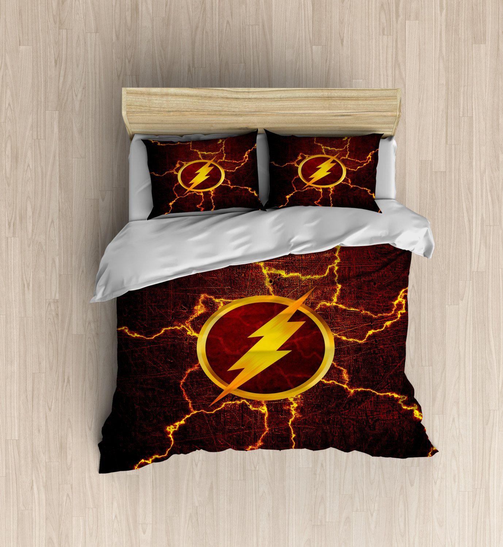 The Flash Bedding   Superhero Duvet Cover, The Flash Duvet, Superhero  Bedding Set, Red Lightning Bedroom Decor