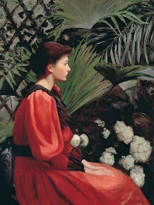 Lilla Cabot Perry (American artist, 1848-1933) In the Conservatory 1915