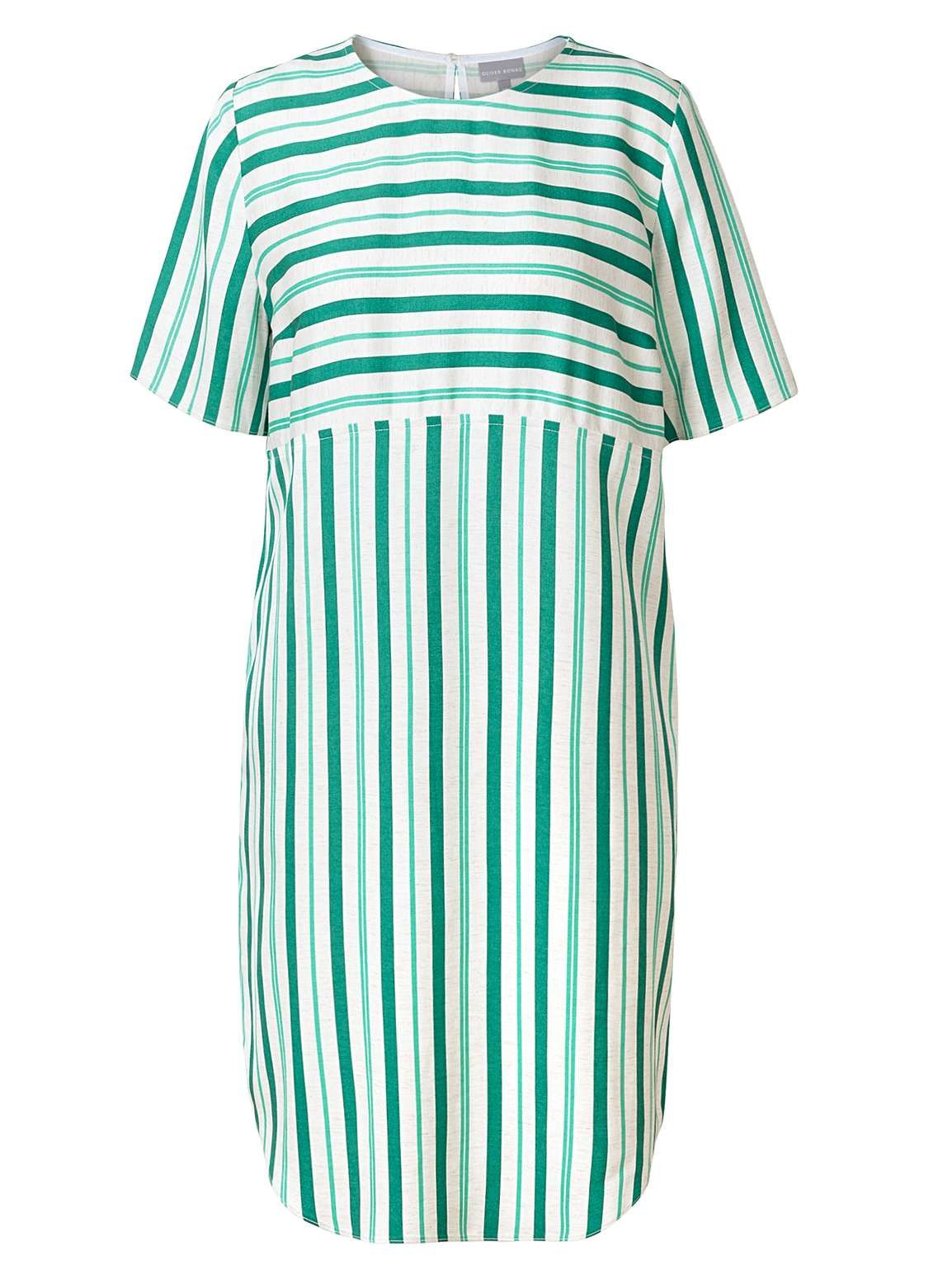 Green Stripe Shift Dress With Images