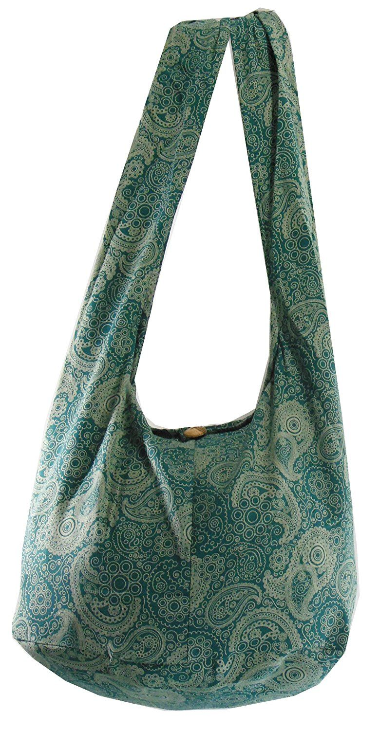 6708fde83804 NaLuck Boho Bag Hippie Cotton Sling Cross body Bag Messenger Purse Paisley  Print Large. Find this Pin and more on Women Hobo ...
