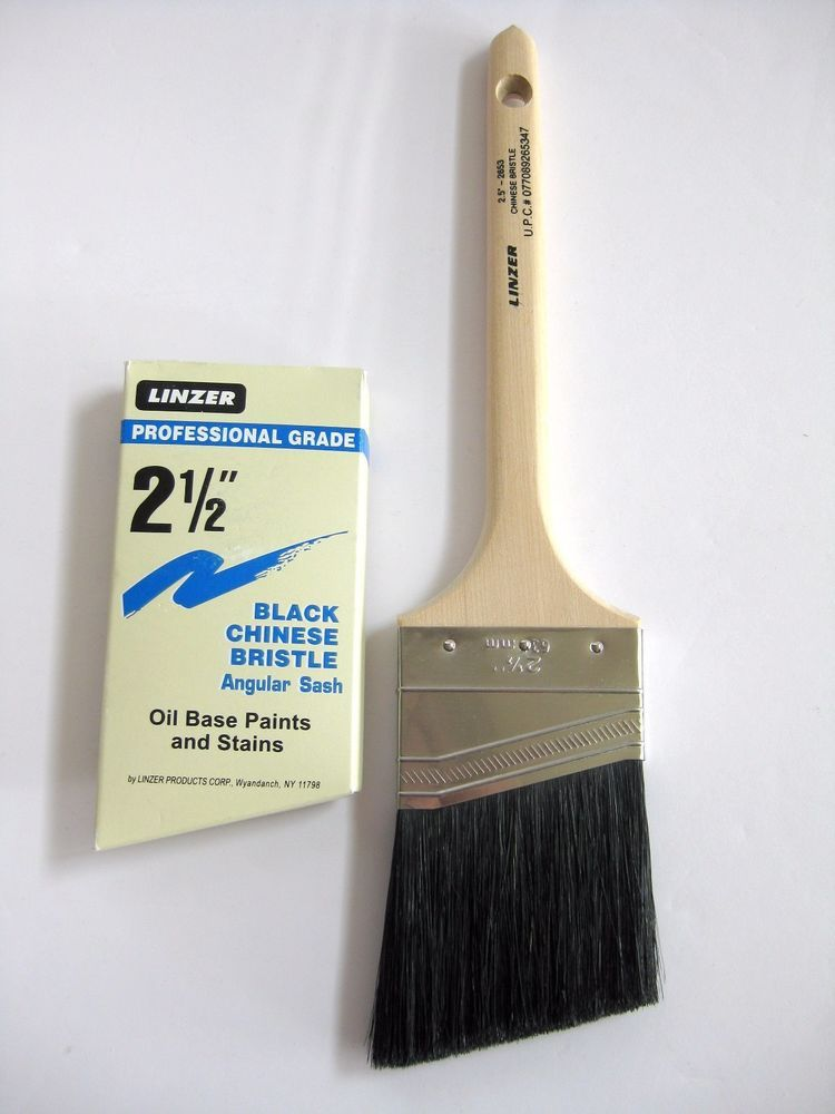 Linzer Paint Brushes 2 Angular Sash Black Chinese Bristle 2653 Oil Base Painting Paint Brushes House Painting