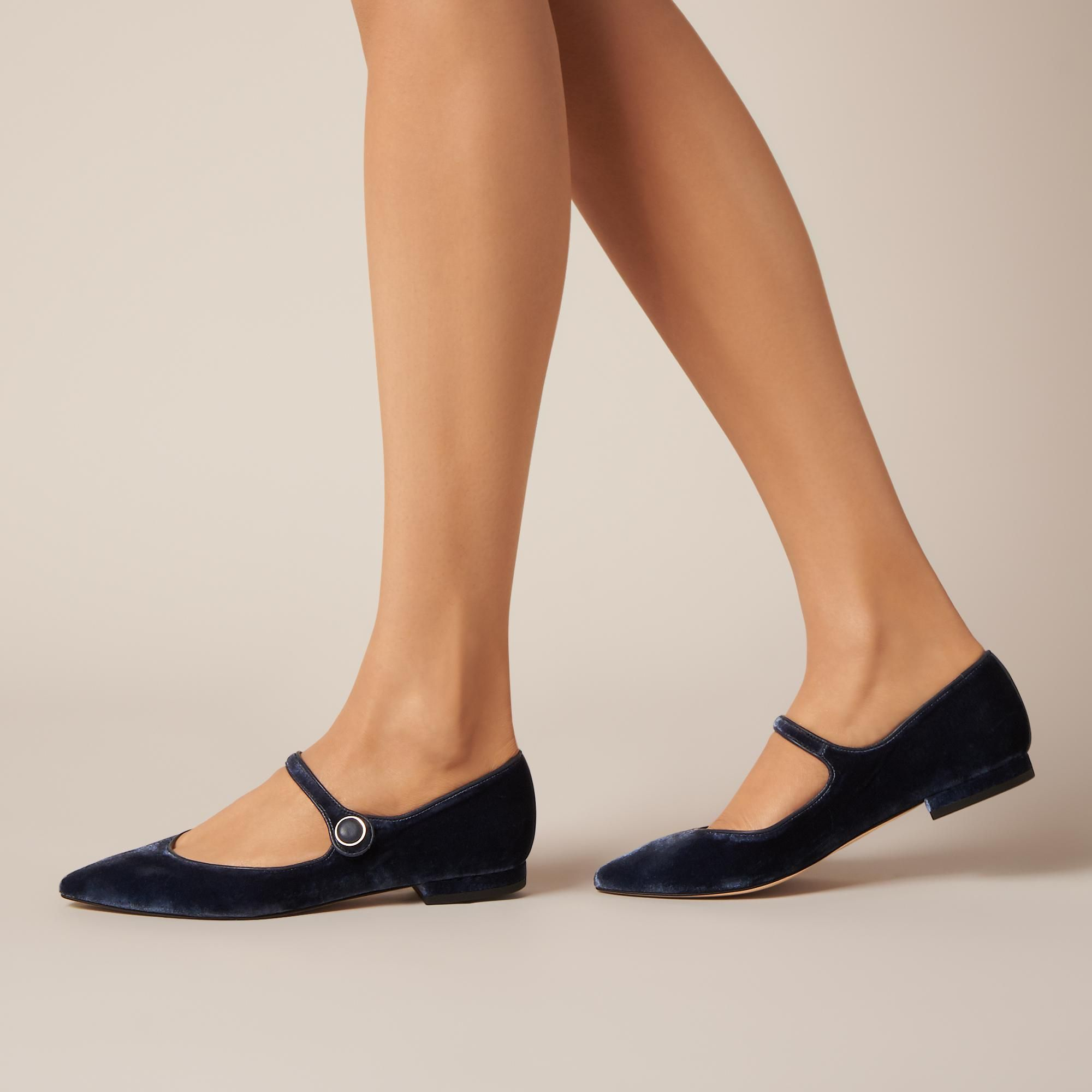 2c9e5005e Mary-Jane Flat | L.K.Bennett, London | Jessica Day | Blue velvet ...