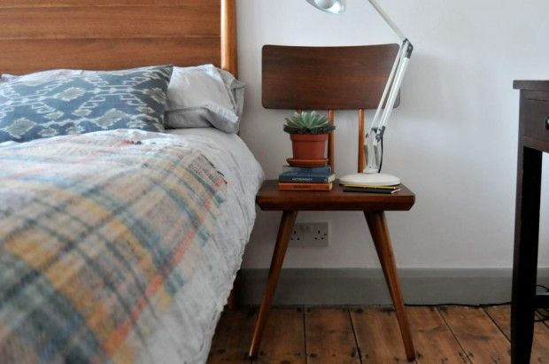 Jeska's bedroom makeover featuring our Cornell dining chairs as bedside tables