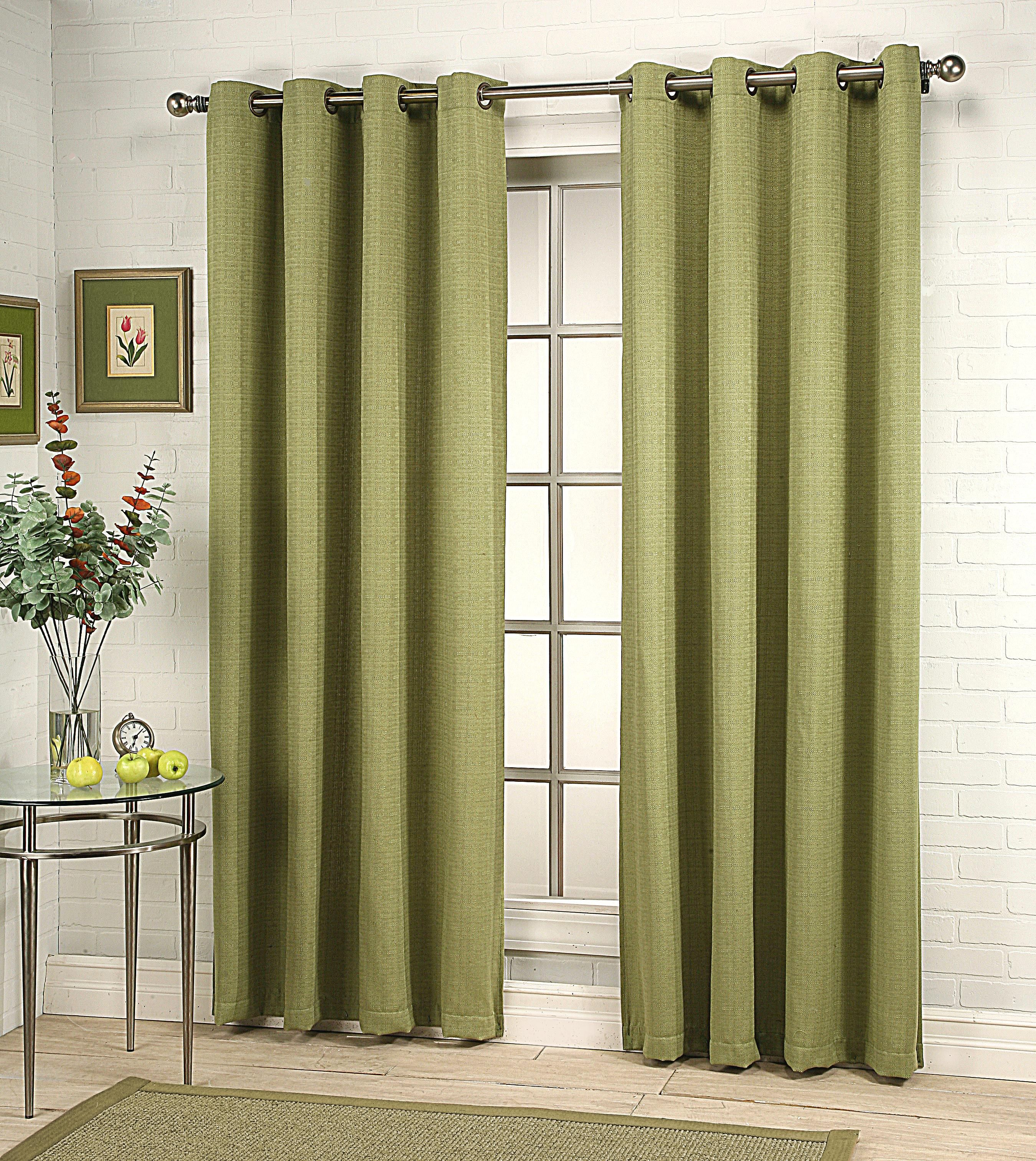 Gramercy Grommet Top Curtain Panel Is A Solid Color Textured