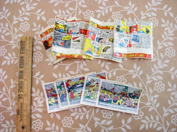 Vintage Bazooka Joe And Double Bubble Comics From by CarnivalCrate, $1.95
