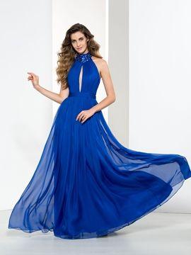 Photo of Halter Beading Pleats Hollow Prom Dress – Cute Dresses