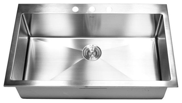 Stainless Steel Single Bowl Drop In Kitchen Sinks | Sinks, Stainless ...