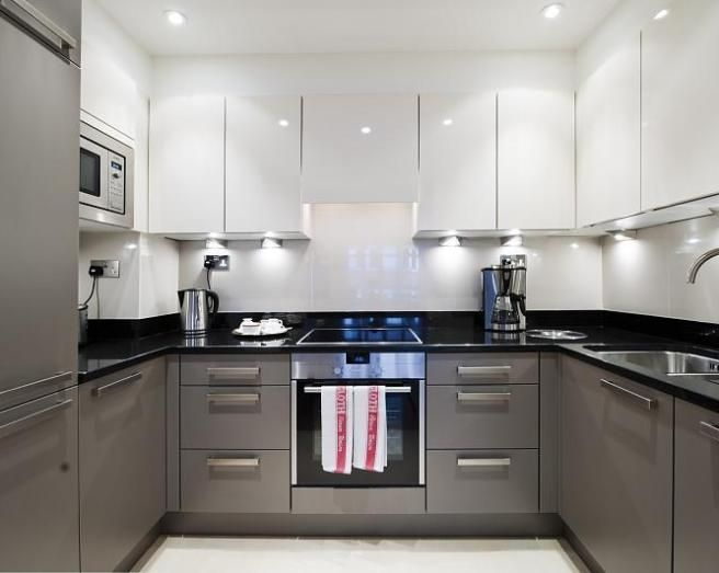 Modern Grey And White Kitchens Inside Attractive Grey And White Kitchen And Perfect Modern Kitchens Awesome Black