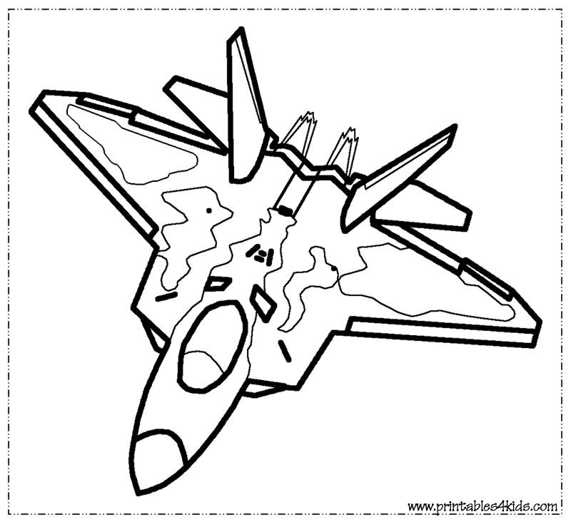 Fighter Jet Coloring Page Printables For Kids Free Word Search