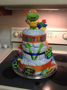 Exceptional Babyshower · Ninja Turtle Diaper Cake