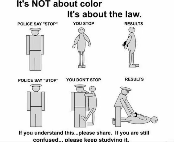 It's about the law