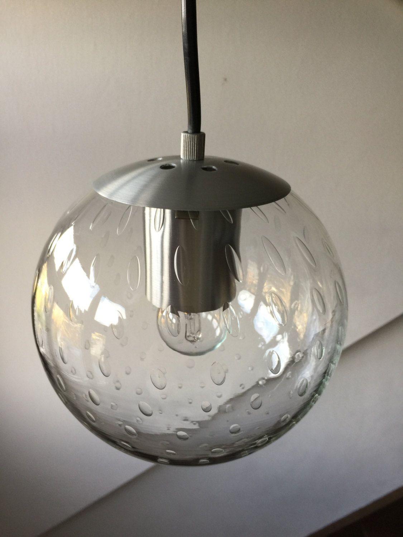 Raak Glass Rain drops lamp 1960's door VanAlphenDesign op