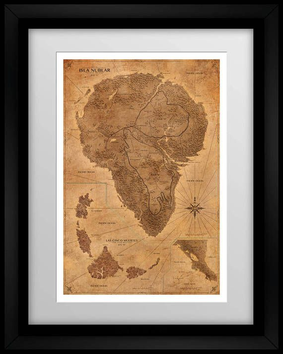Jurassic park map sepia poster isla nublar map print posters jurassic park map sepia poster isla nublar map print vintage world map dinosaur gumiabroncs Images