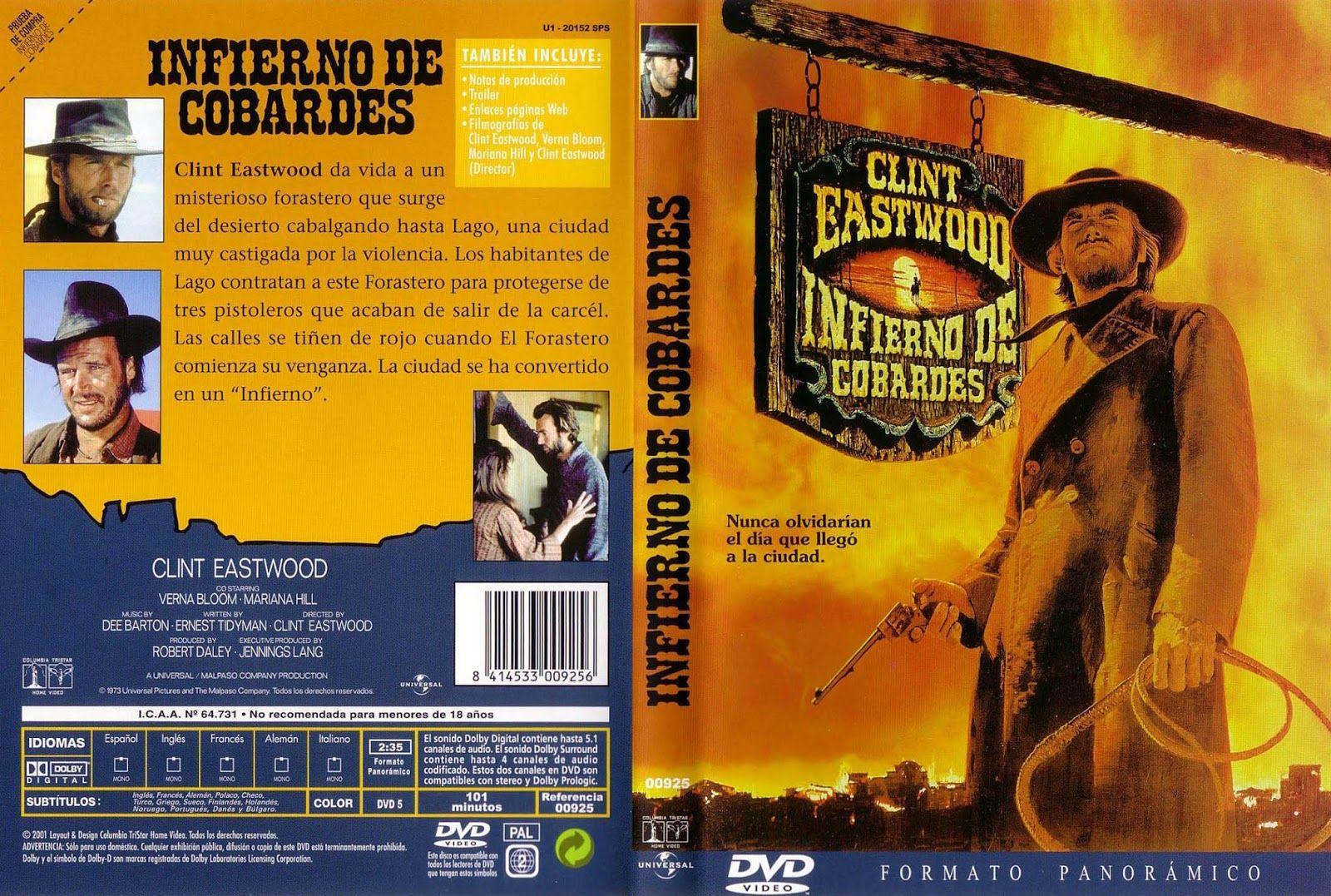 Carátula: Infierno de cobardes   1972   High Plains Drifter   Cine ...