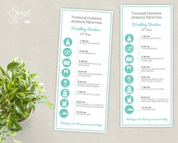 clear iconic wedding timeline template for download jpg 585 468