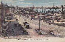Port de Bordeaux, Place de la Bourse XVIIIe