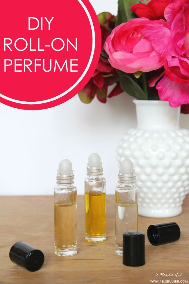 homemade roll on perfume a wonderful diy gift idea for party favors by a blissful nest