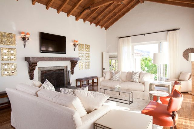 Spanish Revival Home Living Room Designed By Laura