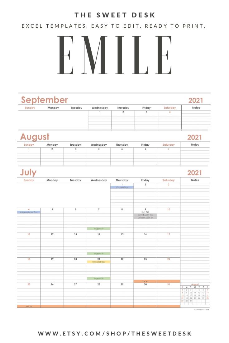 DIY Calendar Printable   Editable 20 Calendar   Minimalist ...