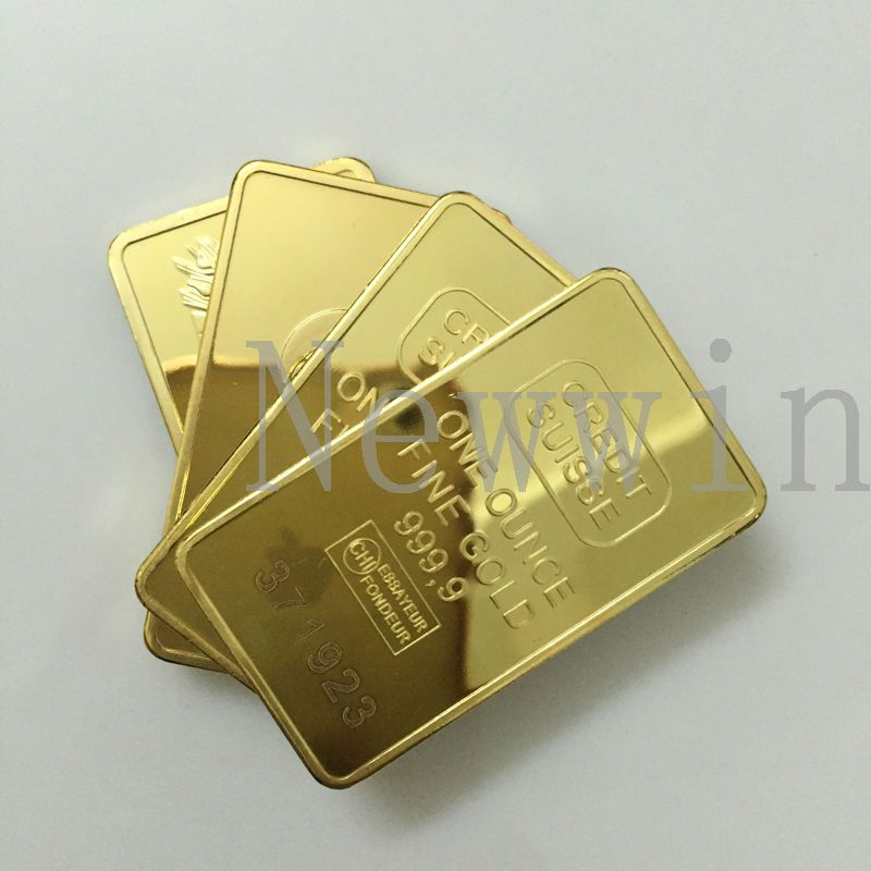 999 1000 Gold Challenge Bar Coin Deutsche Reichsbank Replica Germany Custom Plated As Gifts Bars