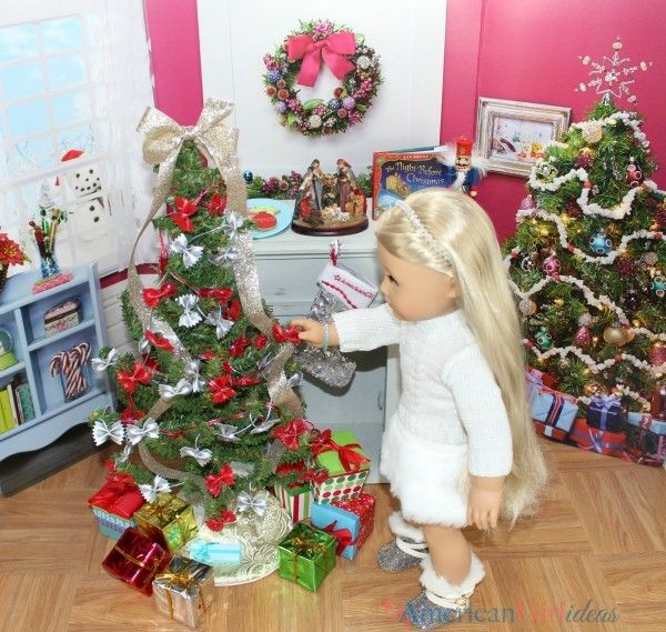 American Girl Doll Diy Christmas Tree American Girl Doll Diy American Girl Doll Furniture American Girl Crafts
