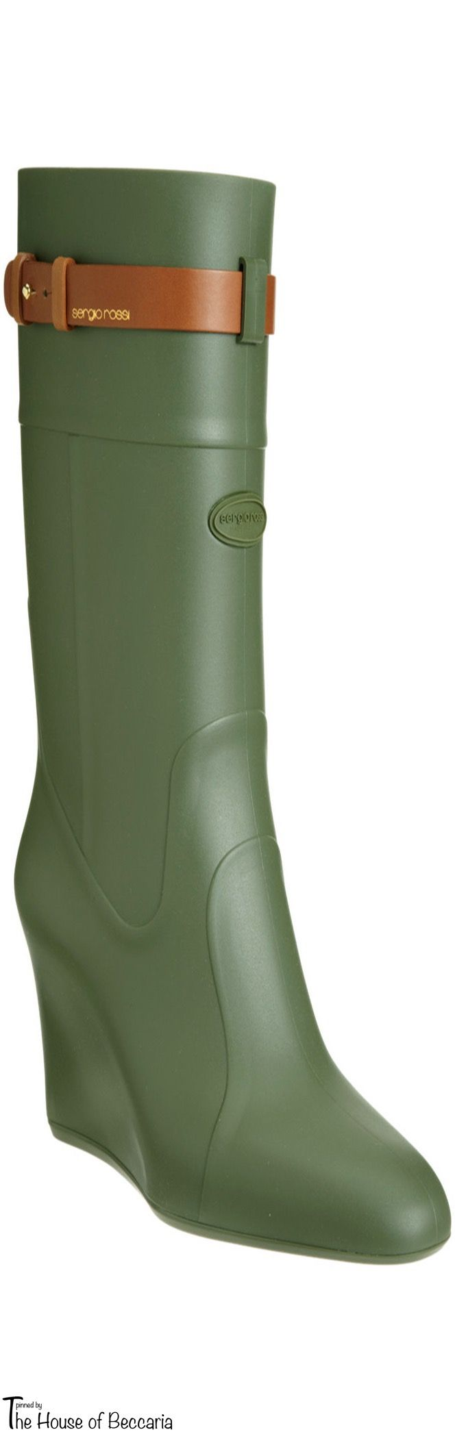 ~Sergio Rossi Wedge Hunting Boot | The House of Beccaria#