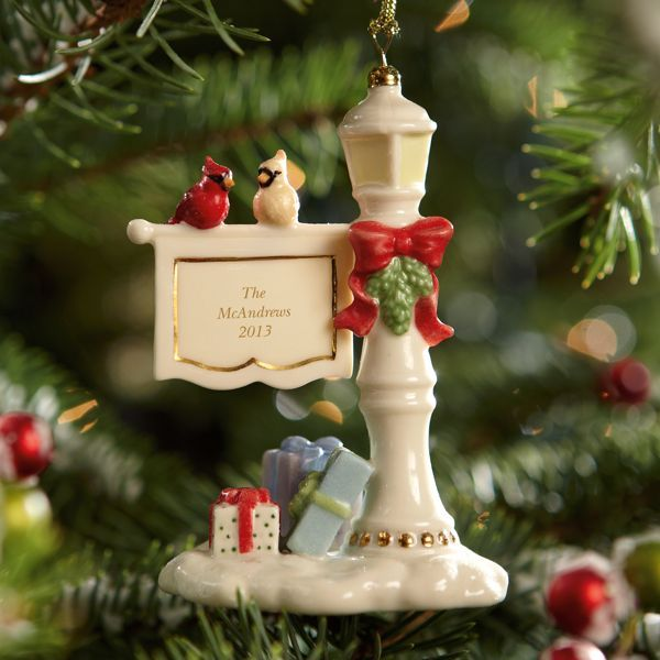 Holiday lamp post ornament by lenox your parents got us