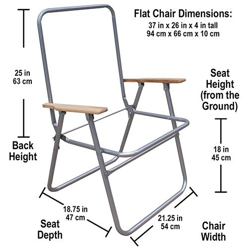 Steel High Back Lawn Chair Frame Measurements
